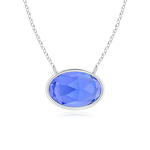 East West Tanzanite Solitaire Necklace