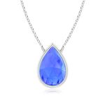 Pear-Shaped Tanzanite Solitaire Necklace