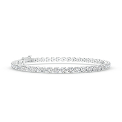 Prong Set Link Round Diamond Tennis Bracelet