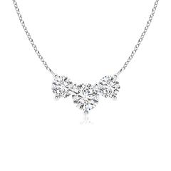 Classic Trio Diamond Necklace Past Present Future