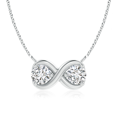 Double Diamond Infinity Pendant Necklace