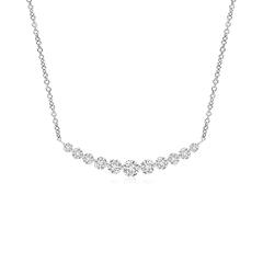 Contemporary Round Diamond Journey Pendant Necklace