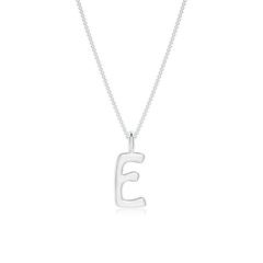 """Capital """"E"""" Initial Pendant"""
