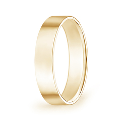 Flat Surface Men's Comfort Fit Wedding Band