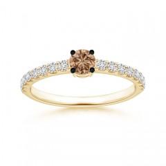 Classic Coffee Diamond Solitaire Ring