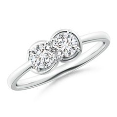 Two Stone Diamond Infinity Knot Ring with Prong Set