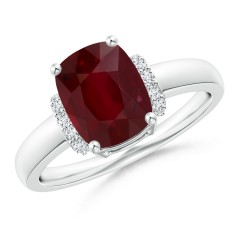 Ruby and Diamond Collar Ring (GIA Certified Ruby)