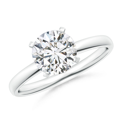 Classic Round Diamond Solitaire Ring