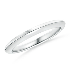 Knife Edge Women's Plain Wedding Band