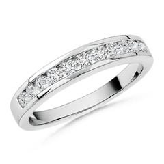 Round Diamond Half Eternity Wedding Band in Channel Set