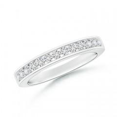 Channel Set Half Eternity Diamond Wedding Band