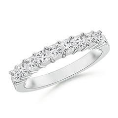 Princess Diamond Semi Eternity Classic Wedding Band
