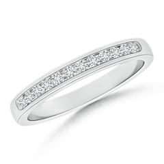Channel-Set Half Eternity Diamond Wedding Band for Women