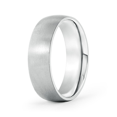 Classic Matte Finish Low Dome Wedding Band For Men