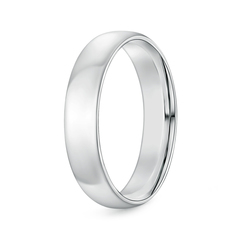Classic Comfort Fit Plain Wedding Band for Him