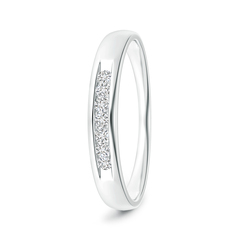 Channel Grooved Classic Diamond Men's Wedding Band