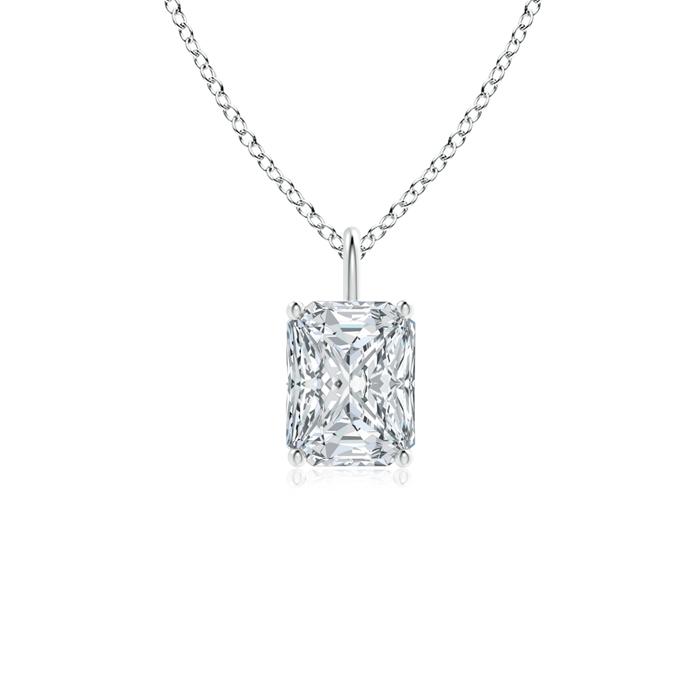 Classic Radiant Cut Diamond Solitaire Pendant - Angara.com