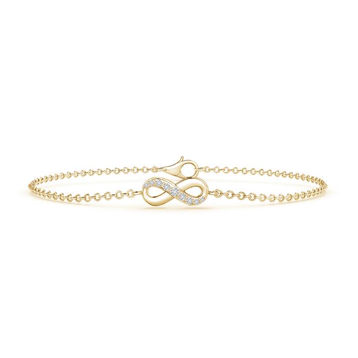 Diamond Infinity Bracelet with Chain
