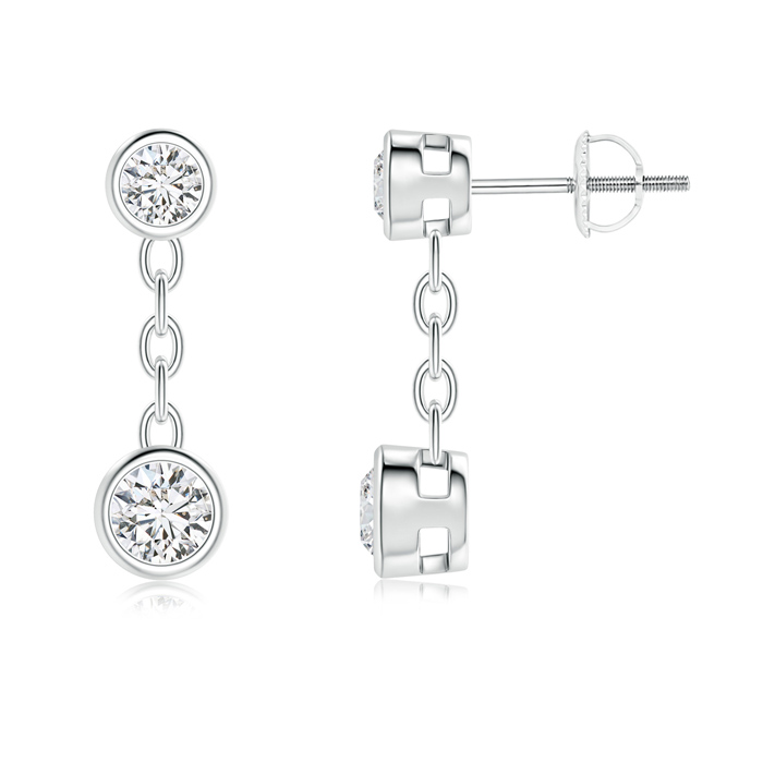 Yard Chain Bezel Set Diamond Drop Earrings - Angara.com