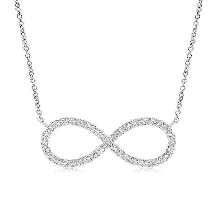 0.20 Carat Round Diamond Infinity Pendant Necklace
