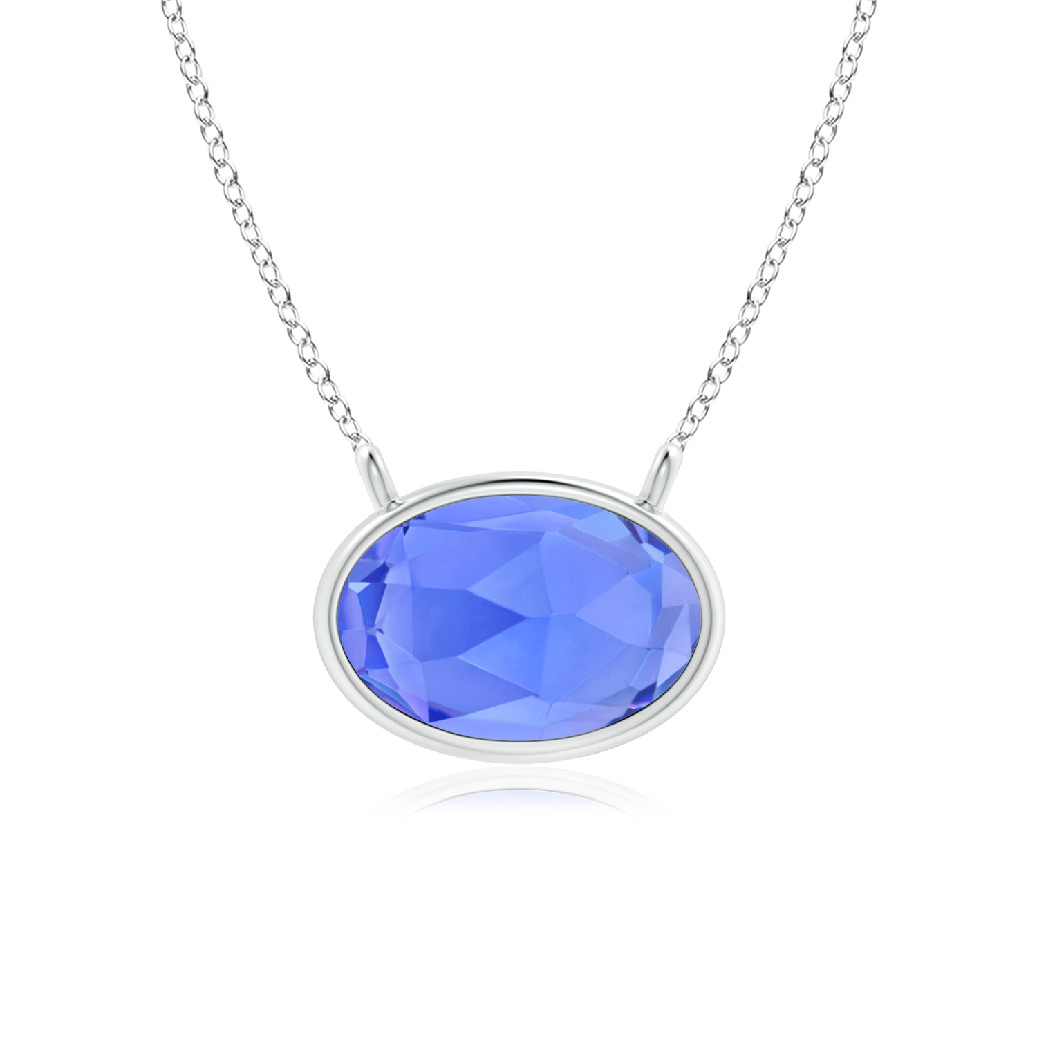 East West Tanzanite Solitaire Necklace - Angara.com