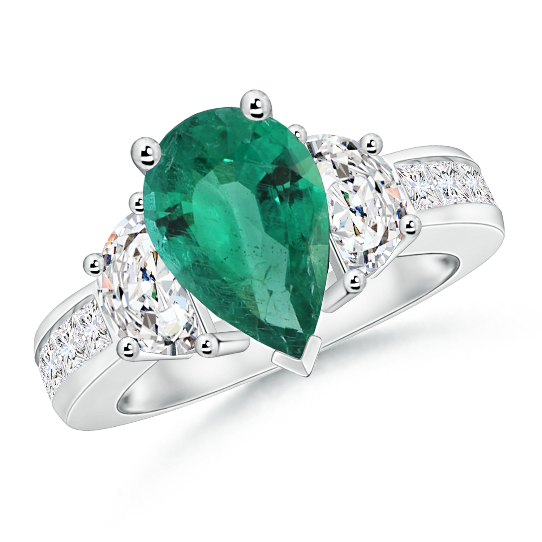 3-Stone Emerald and Diamond Ring (GIA Certified Emerald) - Angara.com