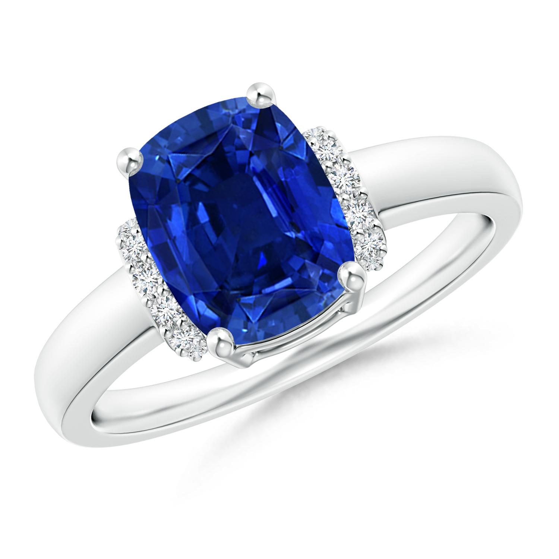 Sapphire and Diamond Collar Ring (GIA Certified Sapphire) - Angara.com