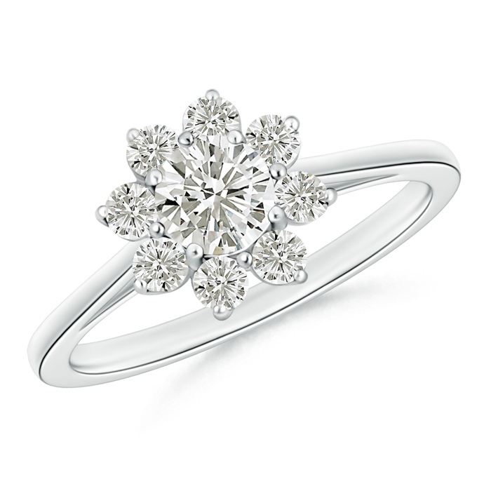 Classic Moissanite Floral Ring - Angara.com