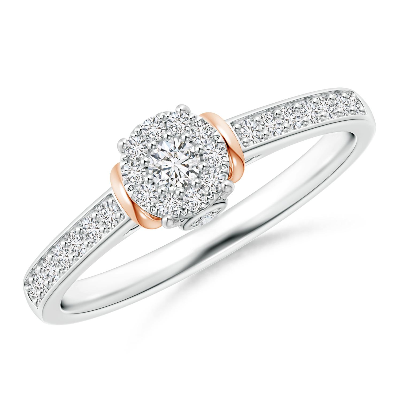 Composite Diamond Collar Ring in Two Tone Gold - Angara.com