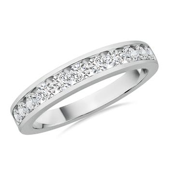 Semi Eternity Diamond Band in Channel Setting - Angara.com