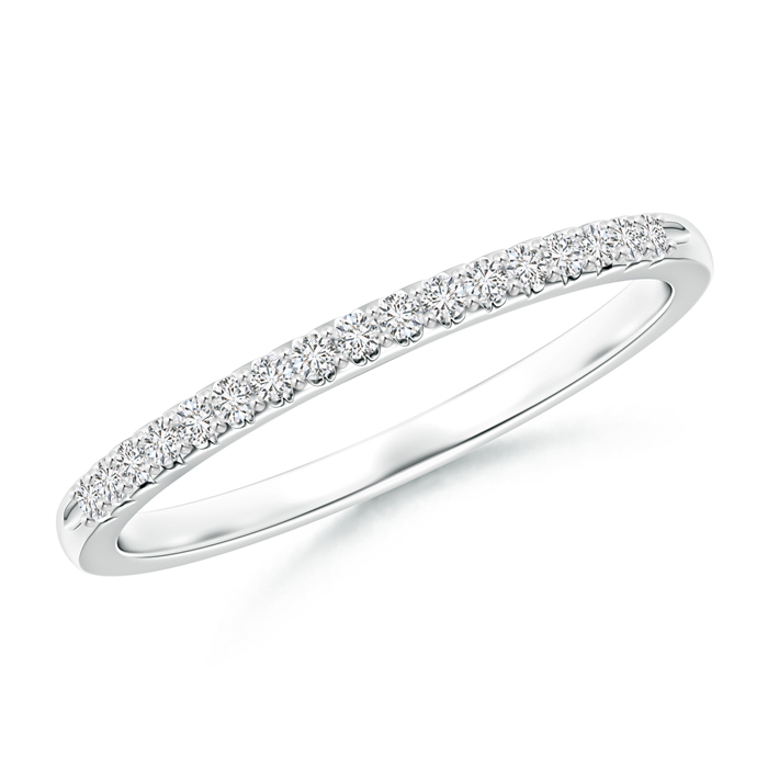 Fishtail Set Diamond Semi Eternity Wedding Band for Her - Angara.com