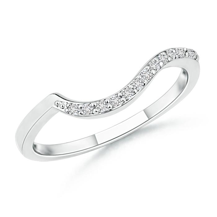 Prong Set Diamond Swirl Wedding Band for Women - Angara.com
