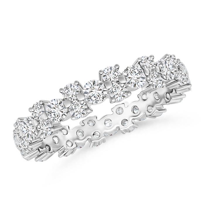 Garland Round Diamond Eternity Wedding Band - Angara.com