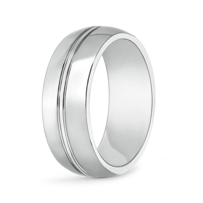 High Polished Center Grooved Men's Cobalt Wedding Band - Angara.com