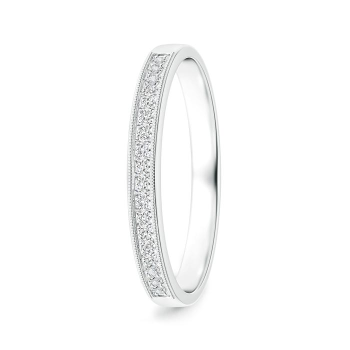 Pave-Set Diamond Half Eternity Wedding Band for Him - Angara.com